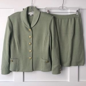 St. John Collection Sage Santana Knit Skirt Suit